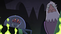 S2E14 Eagle and spider look puzzled at Ludo