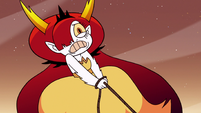 S3E22 Hekapoo struggling against the seabunny ship