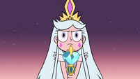 S3E2 Queen Moon points her wand at monsters