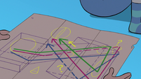 S3E22 Marco unfolding Hekapoo's portal map