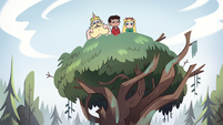 S2E10 Star, Marco, and King Butterfly in a tree
