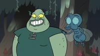 S2E12 Buff Frog grinning nervously
