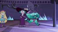 S4E4 Rhombulus runs with cape over his face
