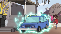 S2E24 Pony Head magically restores the crushed car