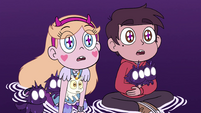 S4E31 Star and Marco look at black unicorn