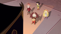 S4E13 Star, Marco, and friends look at elevator