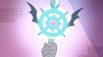 S3E23 Marco Diaz's wand glowing brightly