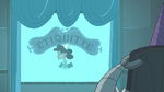 S3E33 Meteora being shown videos on etiquette