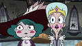 S3E36 Moon and Eclipsa looking at Rich Pigeon