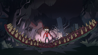 S1E9 Marco looking at the flytrap monster