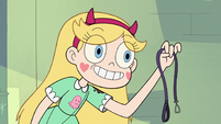 S3E11 Star Butterfly holding Glossaryck's leash
