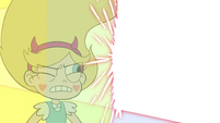 S4E33 Solarian Sword barely misses Star's head