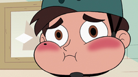 S2E39 Marco Diaz looking nervous and red-faced