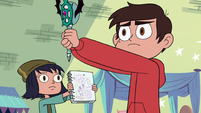 S3E23 Marco Diaz holding out his wand