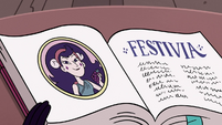 S3E28 Festivia's page in Butterfly family book