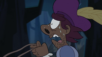 S3E30 Mewni mail carrier sweating at the reins