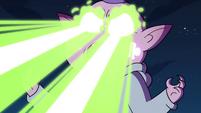 S4E17 Meteora firing beams from her eyes