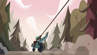 S3E38 Kelly and Talon ride away from the forest