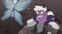 S3E36 Meteora glaring at Moon while trapped