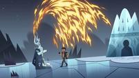S4E5 Fire demon gets sucked into the statue