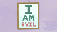 S3E11 Eye chart reads 'I AM EVIL'