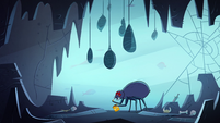 S2E2 Giant spider in its cave