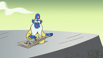 S2E35 Glossaryck making a paper airplane