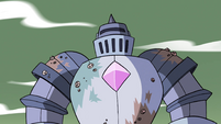 S4E33 Solarian Warrior standing tall