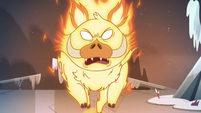 S4E5 Fire demon charging madly at Star