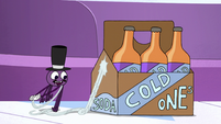 S2E22 Spider With a Top Hat producing a soda six-pack