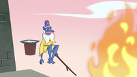 S3E3 Pudding falls off of Glossaryck's stick again