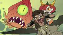 S3E22 Marco and Hekapoo ride away from giant squid