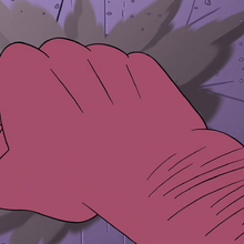 S4E22 Giant hand punches the wall across.png