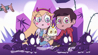 S4E31 Little black unicorns in front of Star and Marco