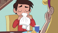 S3E32 Marco Diaz wiping his mouth
