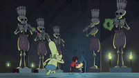 S1E8 Frill-neck minion chasing Star and Marco