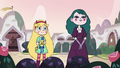 S3E11 Star and Eclipsa in the castle gardens