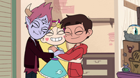 S4E25 Star, Marco, and Tom in a group hug