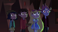S4E13 Star and friends see the Stone glow blue
