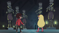 S1E8 Star and Marco encounter skeleton statues