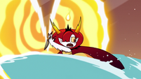 S3E22 Hekapoo trying to close the dimensional portal