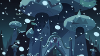 S3E25 Butterfly Castle in the snow at night