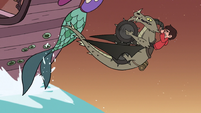 S3E22 Marco and Nachos push the ship up the waterfall