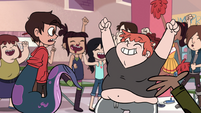 S1E5 Ferguson and students cheer for Marco