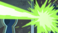 S3E38 Meteora's soul beams strike the castle wall