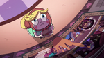 S2E23 Star Butterfly looks up at Celena's tapestry