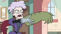 S2E36 Miss Heinous presenting Rasticore's right arm