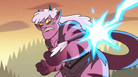 S3E38 Meteora deflecting lightning with her tail