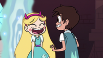 S3E8 Star and Marco laugh with embarrassment