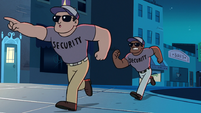 S2E19 Theater security running up to Mackie Hand